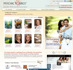 Psychic Source Website Screen Shot